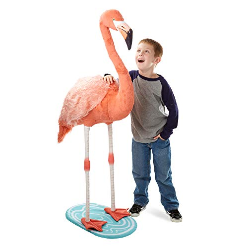 Melissa & Doug Lifelike Plush Flamingo Stuffed Animal (4.5 Feet Tall)