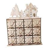 SDENSHI Calendario de Adviento con Cuenta Regresiva de Madera para Navidad