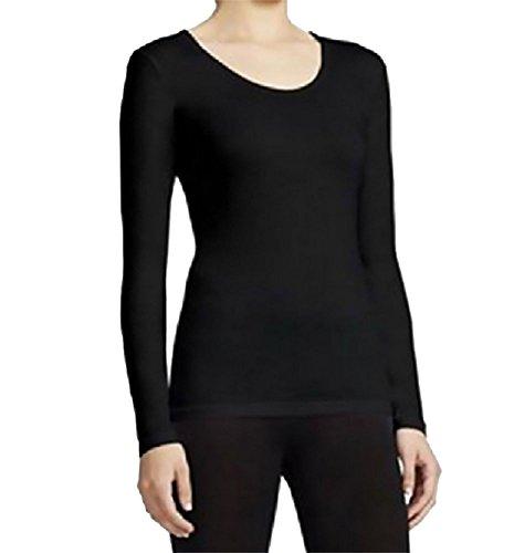 Heat Womens Medium Weight Base Layer Shirt, Small, Black
