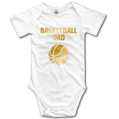 Klotr Unisex Baby Body Kurzarm Basketball Dad Newborn Bodysuits Baumwolle Strampler Outfit Set