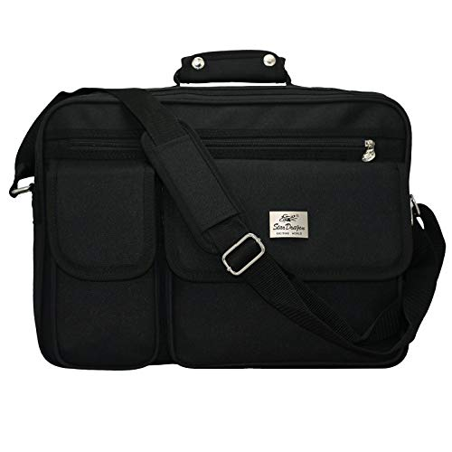 XXL und Kleiner Schultertasche Aktentasche Flugbegleiter Laptop Umhängetasche Business Messenger Bag Notebook Tasche Black SchwarzNEU (Modell 1)