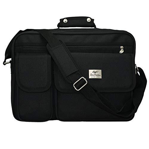 Businestasche Aktentasche Arbeitstasche Schultasche Messenger Bag Tasche Umhängetasche Messenger Bag Schultertasche (Schwarz)