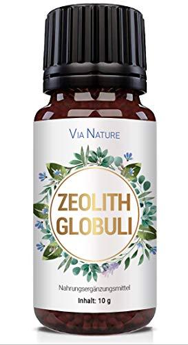 PowerSupps Via Nature - Zeolith Globuli - Immunsystem, Aktiv, Gleichgewicht und Lebenskraft - Kur - 10g radionisch informiert