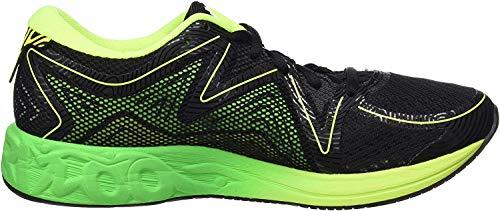 Asics T772N, Zapatillas de Running Hombre, Multicolor (BlackGreen GeckoSafety Yellow), 45 EU