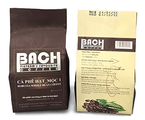 Bach Vietnamese Coffee, Whole Bean (Robusta 2-pack)