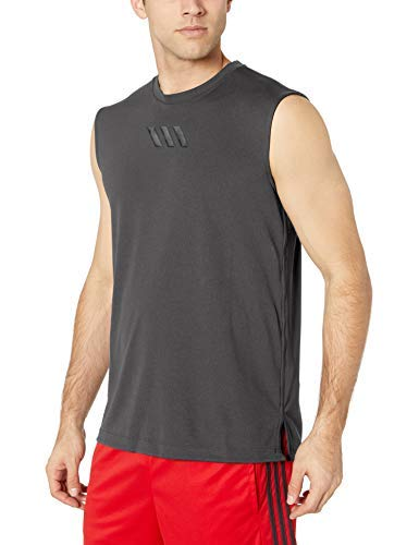 adidas Pro Madness Sleeveless Tank Camisa, Gris, XXXXL para Hombre