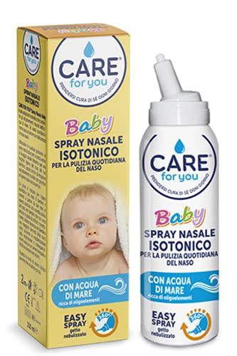 Care For You, Spray Nasale Baby da 100 ml, per la Pulizia Quotidiana del Naso, Indicato per Bambini e Neonati