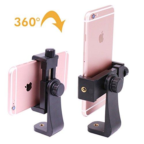 Ulanzi Stativhalterung/Vertikale Halterung Smartphone Stativ Adapter/Handy Clip Clipper für iPhone Samsung Smart Phones 2-1/4-3-5/8