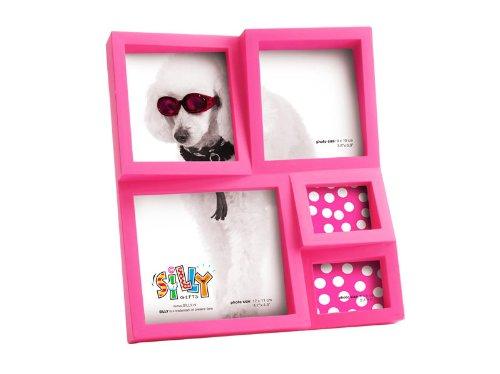Trendfinding Bilderrahmen Fotoalbum Fotohalter Wandcollage Collage Hochformat Querformat mit Aufsteller pink