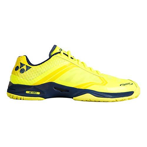 Yonex Hommes Power Cushion Aerudash Chaussures De Tennis Chaussure Tout Terrain Jaune - Bleu Foncé 44