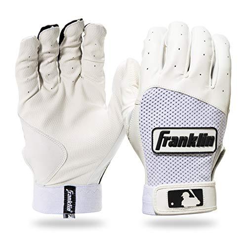 Franklin Sports Classic XT Baseball Batting Gloves Pair - White/White - Youth Medium