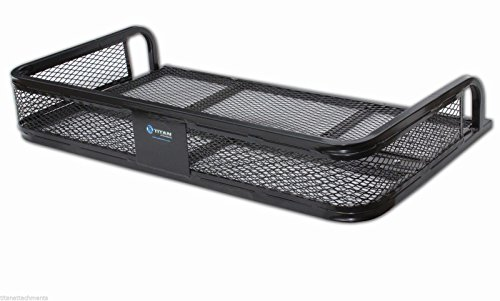 Titan Universal ATV Rear Storage Rack, Steel Cargo Basket Carrier