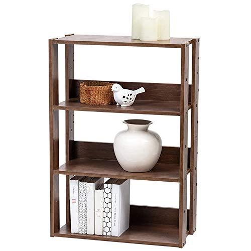 Boekenplank 4-laagse boekenkast, opbergrekplank, stabiel stalen frame, moderne hoge displayplankrekken Open brede staande plank of woonkamer, hal, gang, kantoor