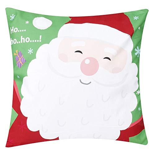 Fronha de Natal, Capa de Almofada Capa de Almofada, Capa de Almofada, para Sofá Decoração de Casa Fronha Sala de Estar(1)