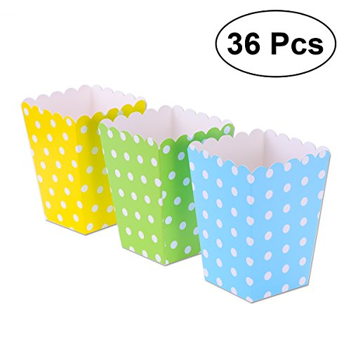 TOYMYTOY 36pcs cajas de palomitas titular recipientes cajas de cartón bolsas de...