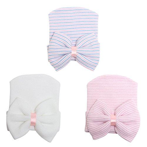 COUXILY Babymütze Baby Mädchen Mütze Neugeborenenmütze Erstlingsmütze Strick Hüte Mützen & Caps Hut- Baumwolle für 0-2 Jahre (H-S01)