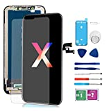 Nroech Compatible with iPhone X Screen Replacement, OLED Display, 3D Touch Screen Digitizer with Complete Repair Kit, Including Tempered Glass, Repair Tools, Waterproof Adhesive, for iPhone X 5.8 inch