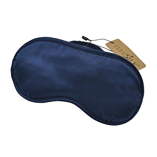 LULUSILK Luxus Seide Augenmaske Schlafbrille Schlafmaske für Reise 100{57b4df318a4941903e153743f050b1f6d18d38fba9675c3acdcd3e1ba570b223} reine Maulbeerseide Atmungsaktiv, Marineblau