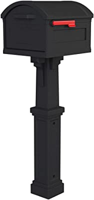 Gibraltar Mailboxes GHC40B01 Grand Haven Decorative Package Mailbox, Extra Large, Black