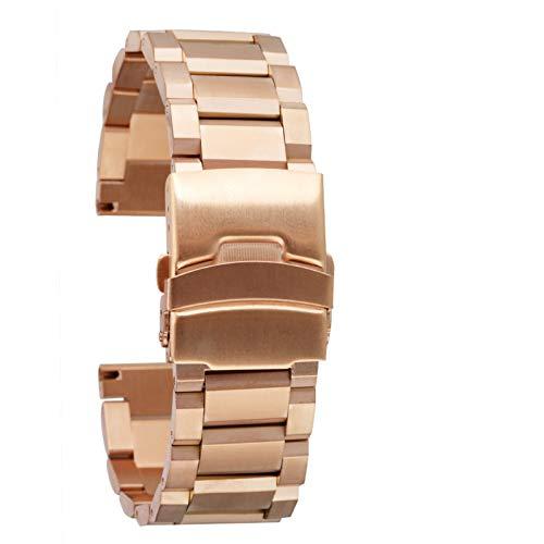 WNFYES Sólida de Acero Inoxidable Correas de Reloj 3 Colores 18 mm 20 mm 22 mm 24 mm Correa del Metal Banda Reloj Hombres Mujeres Relojes Pulsera de reemplazo Relojes Correas