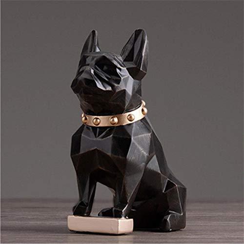 LOSAYM Escultura Figuritas Decorativas Estatuas Bulldog Estatua Perros Animal Arte Escultura Resina Artesanía Diseño De Interiores De Casa