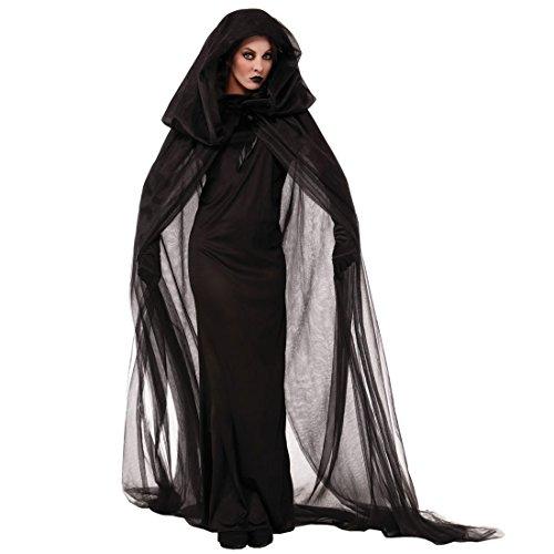 Laifeng ZIMO, Disfraces de Halloween Noche errante Alma Fantasma Vestido de Bruja Servicio Nocturno del Partido del delirio, Tamaño: XXL, Busto: los 90-110cm, largas de la Ropa: 152cm, Capa Longitud: