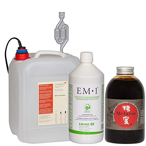 DIMIKRO Fermenter-Einsteigerset mit EM1 Urlösung Emiko® zur Herstellung von Effektive Mikroorganismen (5L)