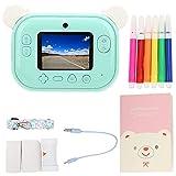 Jopwkuin Sofortbildkamera, 2,4 Zoll Kinder Digitalkamera WiFi Hd 1080P Mini Kamera 12Mp Digitaldruck Dual Kameras Spielzeug Kamera für Kinder