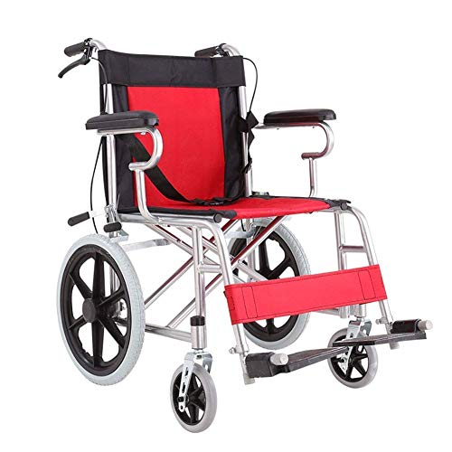 Einfache Idee Leichter Faltender Älterer Rollstuhl, Der Medizinischen, Starken Älteren Stahlrollstuhl Fährt Leichter Faltender Flacher Laien-Älterer Älterer Rollstuhl Behinderter Gehender Wagen, T-C