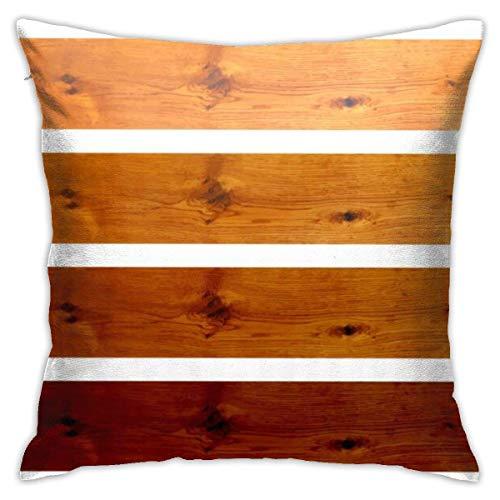 Traveler Shop Funda de Almohada Roble Boards Image Funda de cojín Decorativa Throw Pillow Fundas Protectores, 18x18in