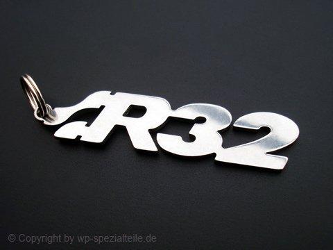 Special Parts R32 Schlüsselanhänger Emblem aus Edelstahl hochwertig poliert und Kratzfest