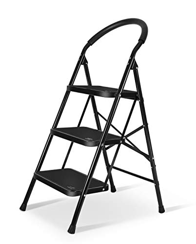 XinSunho Lightweight 2 Step Ladder Folding Sturdy Step Stool 330lbs Capacity Ladder for Kitchen