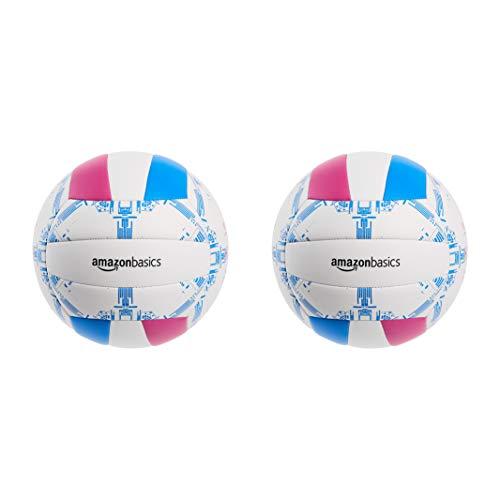 AmazonBasics - Balón de voleibol para uso recreativo de talla 5 (paquete de 2)