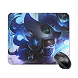 LUOY Lulu League Legend Small Gaming Mouse Pad Waterproof Non-Slip Rubber Base Cool Mouse Pads for Computers Office Laptop Keyboard 9.8x11.8 Inch