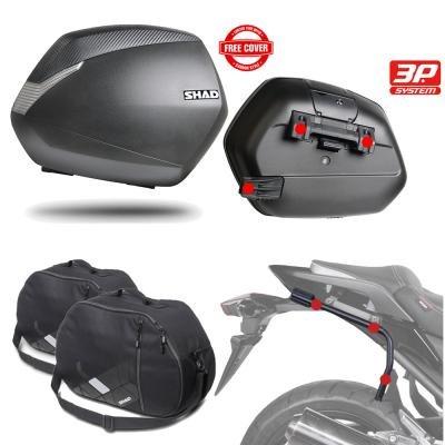 SH36BOHE20 - Kit fijaciones y maletas laterales + bolsas internas regalo SH36 compatible con KAWASAKI VULCAN S 2015-2017