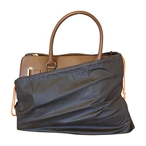 Staubschutzbeutel für Handtaschen, Geldbörsen, Schuhe, Stiefel, 4 Stück, Vliesbeutel, atmungsaktiv, mit Kordelzug, Braun (braun), Large