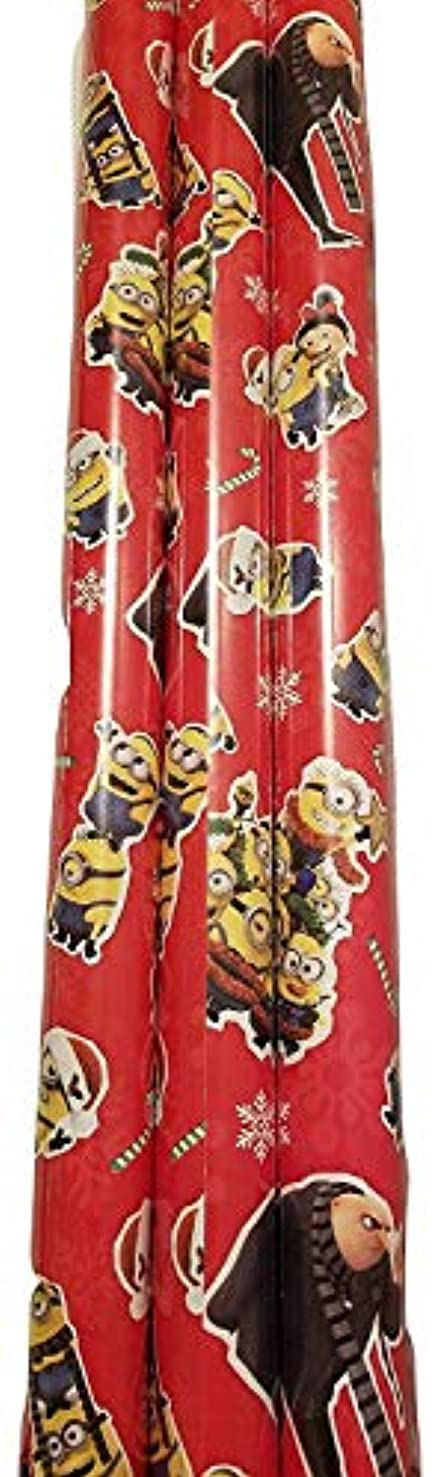 Christmas Wrapping (Bonus Themed Writing Tool) Greetings 1 Roll Design Festive Red Minions