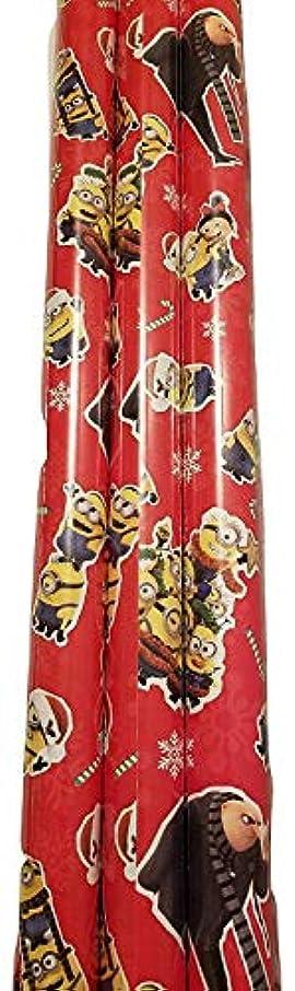 Christmas Wrapping (Bonus Themed Writing Tool) Greetings 1 Roll Design Festive Red Minions