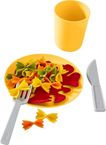 HABA 305723-Mittagessen-Set Nudelpfanne, Küchenspielzeug AB 3 Jahren Juguete de Cocina, Color carbón (305723)