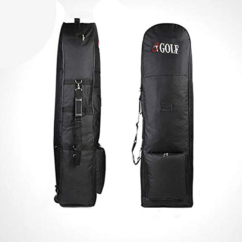 Portable Padded Golf Bag Durable Travel Cover Case with Wheels Nylon Construction Carrying Coverall Sporting Equipment