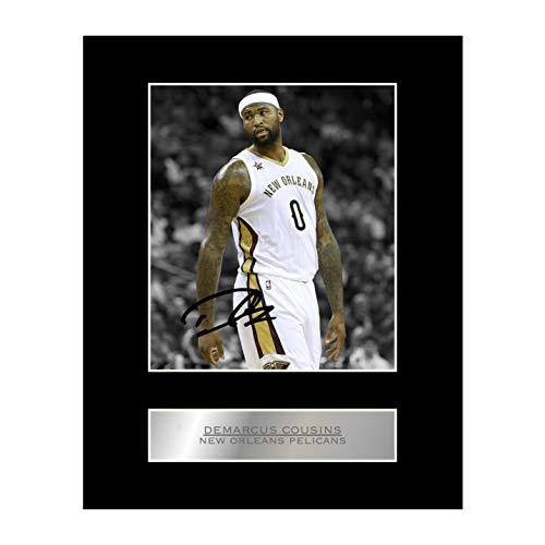DeMarcus Cousins firmado foto enmarcada pantalla Nueva Orleans pelícanos