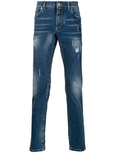 Luxury Fashion | Dolce E Gabbana Heren GY07CDG8BE3S9001 Donkerblauw Katoen Jeans | Seizoen Outlet