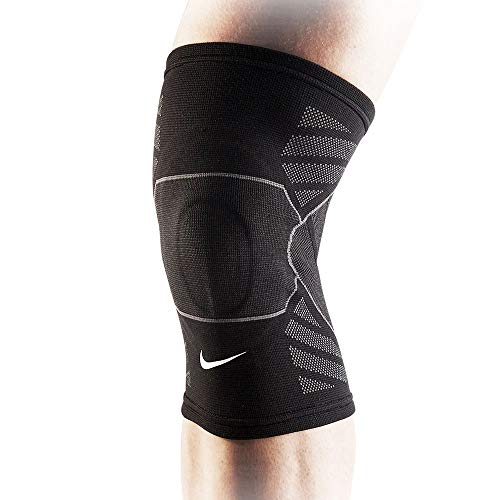 Nike Erwachsene Advantage Knitted Knee Sleeve Kniestulpe, Black/Anthracite/White, XL