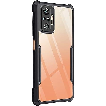 TheGiftKart Back Cover Case for Mi Redmi Note 10 Pro/Pro Max (Shockproof | Crystal Clear | Hybrid TPU & PC | Transparent Back | Black Bumper)