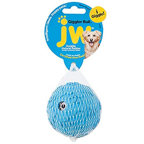 JW Pet Company Giggler Ball Dog Toy, Medium, (Colors Vary)