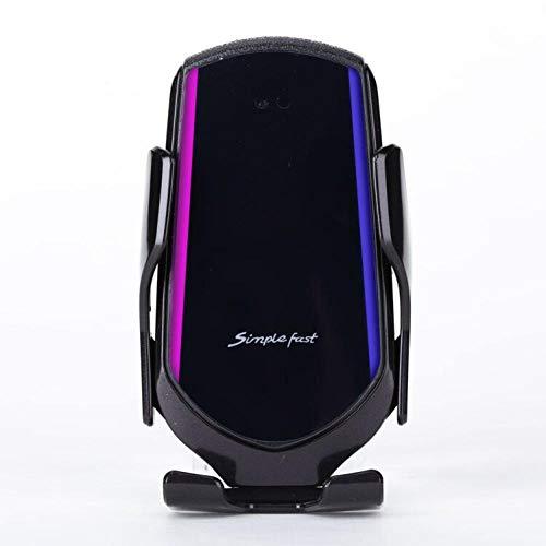 USNASLM Automático Sujeción Cargador Inalámbrico Coche Teléfono Titular Inteligente Sensor Infrarrojo Ventilación Agujero Fijación Asiento Teléfono Mó