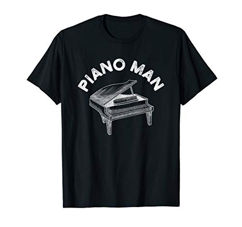 Baby Grand Piano Man Teacher Student Pianist Gifts T-Shirt