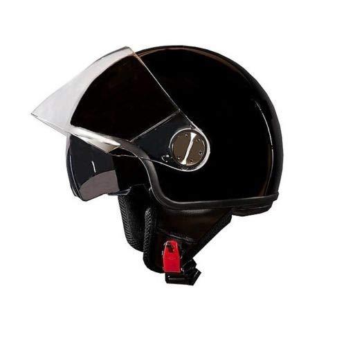 Generieke helm One Eden JET DEMIJET DOPPELT VIZIERA VOOR MOTO SCOOTER BLACK LUCIDO XL