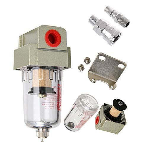lxxiulirzeu AF2000-02 1/4 Bomba de Aire Filtro de compresor Pneumático Universal Aceite Captura de Aceite Tanque de impurezas Separador de Agua comprimido (Color : WPMSMBarekt)