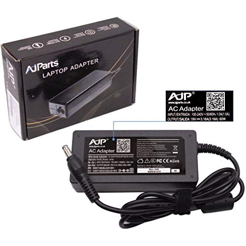 AJP New Replacement For Samsung CPA09-004A PSCV600/04A Laptop AC Adapter Power Charger 19V 3.16A 60W PSU Adaptor with Power Cord